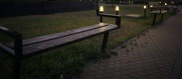 长凳克罗地亚公园ribnjak 库存照片