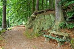 长凳公园场面 库存照片