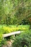 长凳公园石头 免版税库存图片