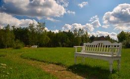 长凳公园 库存照片