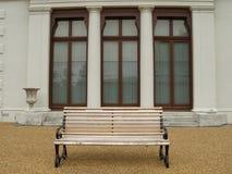 长凳在公园在伦敦 免版税库存图片