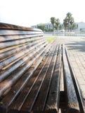 长凳在公园 库存照片