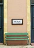 长凳在尼科西亚 免版税库存图片