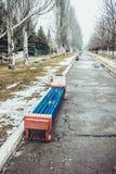长凳在老公园 库存图片