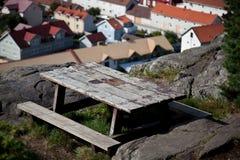 长凳城市视图 免版税库存照片