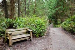长凳本质路径端 免版税库存图片
