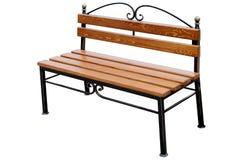 长凳棕色木 免版税库存照片