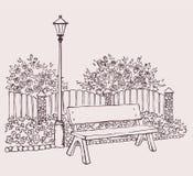 长凳灯笼 向量例证