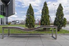 长凳现代正方形 免版税库存照片