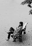 长凳的企业夫人 免版税库存照片