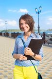 长凳的学生 免版税库存图片