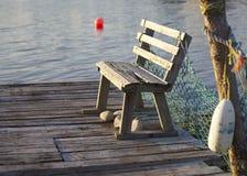 长凳码头 免版税库存照片