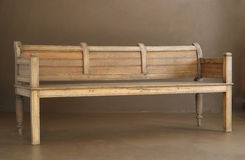 长凳经典木 免版税图库摄影