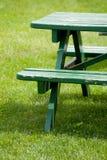 长凳草坪 免版税图库摄影