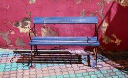 长凳蓝色 向量例证