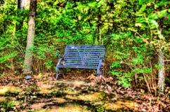 长凳蓝色 图库摄影