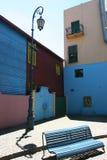 长凳街灯 库存图片