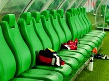 长凳足球 免版税图库摄影