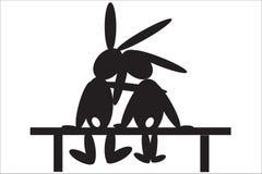 长凳野兔 免版税库存照片