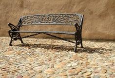 长凳铁装饰物 图库摄影