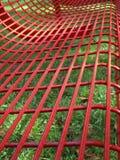 长凳雨红色 图库摄影