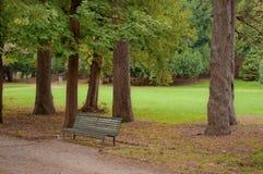 长凳以绿色 库存照片