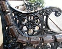 长凳细节在公园 免版税图库摄影