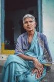 年长印第安妇女 免版税库存照片