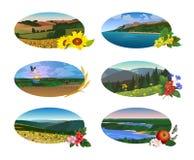 以长圆形的形式自然风景 皇族释放例证