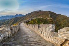 长城, Mutianyu,中国 库存图片