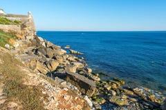 长处海滩在爱都酒店,葡萄牙 库存图片
