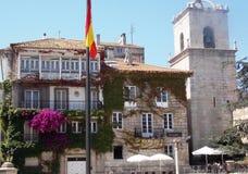 长处领事馆在老城市拉科鲁尼亚队西班牙 免版税库存照片