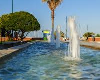 长处dei marmi喷泉 图库摄影
