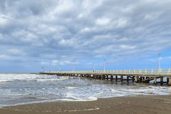 长处dei marmi码头 库存照片