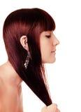 长女孩的头发 免版税库存照片