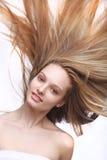 长女孩的头发 图库摄影