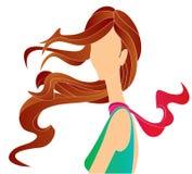 长女孩的头发 库存图片