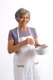 年长妇女厨师 免版税库存照片