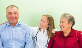 年长家庭护理 免版税库存照片