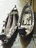 2长尾巴小船 库存照片