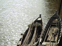 2长尾巴小船 库存图片