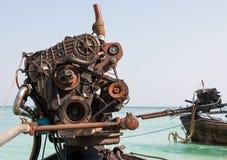 长尾巴小船的引擎 库存图片