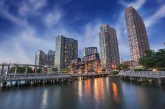 长岛,纽约码头  免版税库存图片
