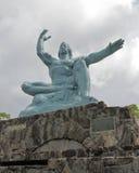 长崎和平雕象 库存照片