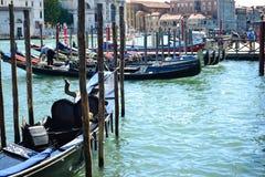 长平底船在威尼斯意大利 免版税库存图片