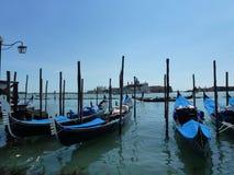 长平底船在威尼斯2014年 库存照片