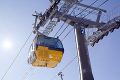 长平底船在雍Pyong滑雪胜地韩国 免版税图库摄影