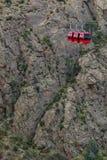 长平底船推力缆绳车的皇家峡谷科罗拉多 库存图片