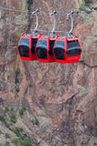 长平底船推力缆绳车的皇家峡谷科罗拉多 库存照片