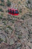 长平底船推力缆绳车的皇家峡谷科罗拉多 免版税库存照片